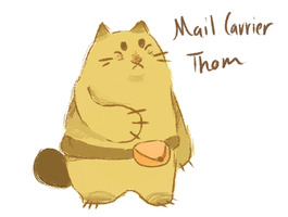 Mail Carrier Thom by Teatime-Rabbit