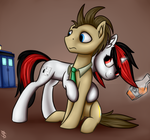Blackjack trying to enchant Doctor Whooves by 6EditoR9