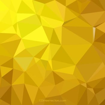 Polygonal Triangular Golden Background Free Vector by 123freevectors