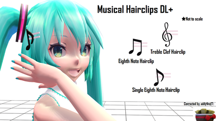 [MMD] Musical Hairclips DL+ by Haztract