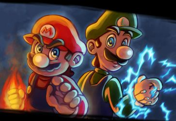 Super Mario Bros by LC-Holy