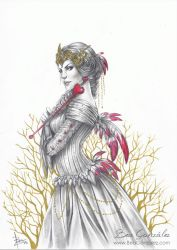Commission - Red queen by Bea-Gonzalez