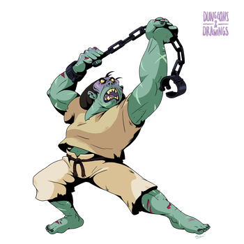 DnDrawings 308: Flagella, Orcish Thug by ExitStageLeft