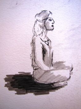 Drawing live models session - Laurie by GathLgr