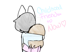 Childhood friends to now~ by OliviaCxt
