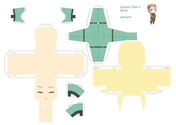 Movie Germany Papercraft by KimiMonsterKitty