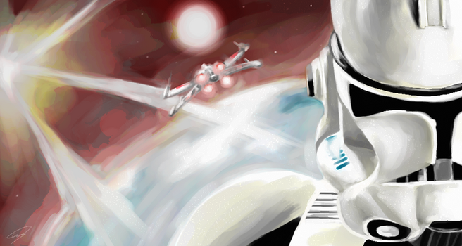 Star Wars speedpaint by scottwillders