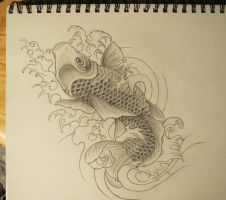 Koi Fish WIP 4 by sarahchalmers