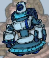 Starry Knight Jovian Robot by MadGoblin