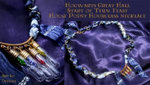 Hogwarts House Points Hourglass Necklace(for sale) by ArtLoDesigns