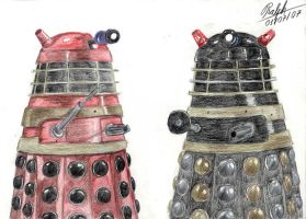 Daleks talking by Ralphmax