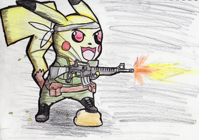 Pika M16 by ChromeFlames