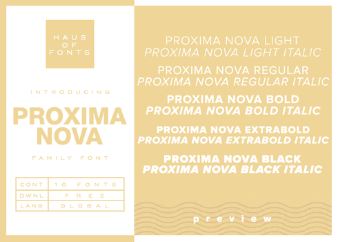 [03] : proxima nova by HausOfFonts