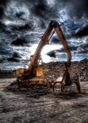 lonesome excavator by derfabo