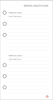 Free Planner Printable: Mental Health Plan (3) by apparate