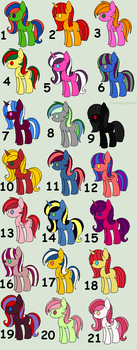 Cheap ponies to adopt  - 8\21 (1 points each) by JennyHalvors