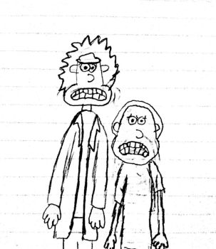 Rick and Morty in Aardman's design by thearist2013