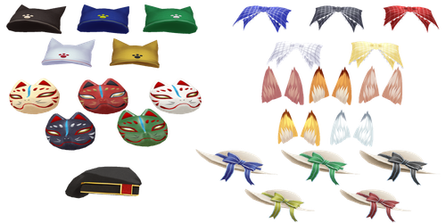 CM3D2: Pack 1 (Head Accessory) by Jalmod