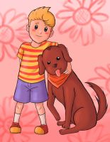 (Mother 3) Lucas and Smarty. by Pink--Reptile