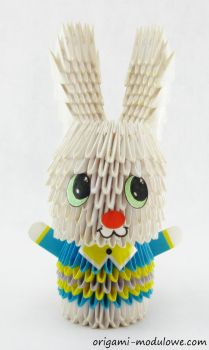 Modular Origami Mr. Rabbit by origamimodulowe