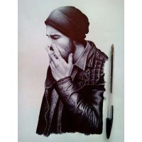 My work with Black Ballpoint Pen by matinshafiei