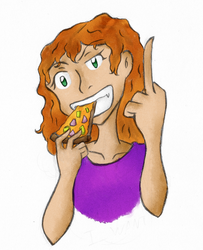 Piza Girl by ArtGuyCharlie