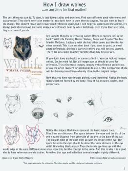 How I draw wolves by chenneoue