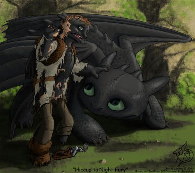 Hiccup into Night Fury by Tersethra