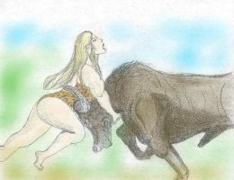 Fight with a buffalo 8 by PhillipVandamme