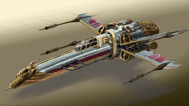 Steampunk XWing by zeustoves