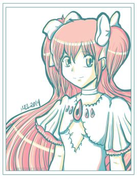 Color Palette Art Meme: Goddess Madoka by melgcabral