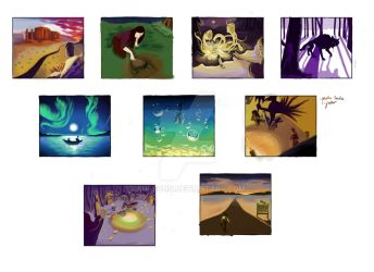Visual Storytelling Color Beat Boards by Aui-song
