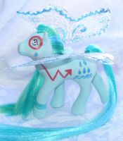 Water Custom Flutter Pony by mayanbutterfly