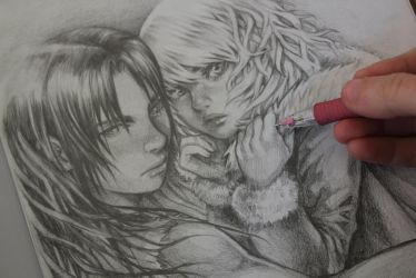 Pencil Commission 2 by HlYA