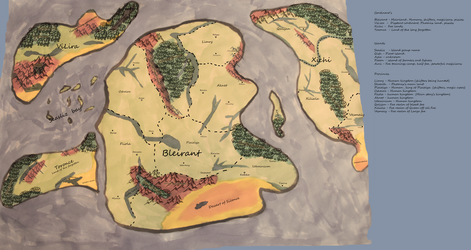 World map by shamanQween007