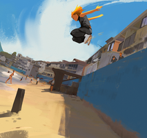Parkour At The Beach by snatti89