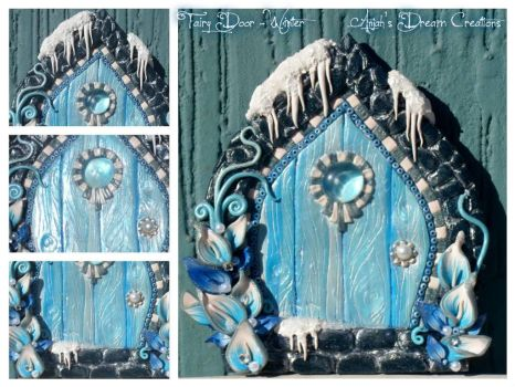 Winter Fairy Door by Letizializ