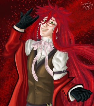 Shinigami Grell Sutcliff by TurquoiseThought