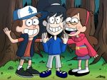 Commission: Pines Twins with Cousin Gina by JFMstudios