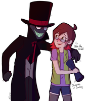 Black Hat and KateTheGreat(request) by SoyotheNerd
