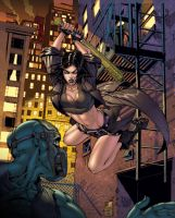 Hack/Slash My First Maniac double spread COLOR! by Danielleister