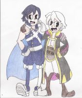 Chrom and Robin Rubber Hose Style by Willanator93