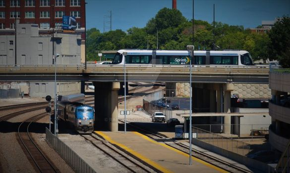 Light Rail, meet Heavy rail. by Railphotos