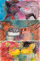 Kissing traditional icons by Zhiibe