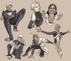 Dragon Age Sketches by AgarthanGuide
