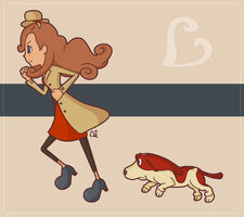 Kat and Dog by Northely