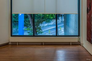 displaying street in Zurich museum by Rikitza