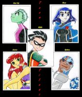 Teen Titans Group ... by Sheep-in-the-moon