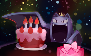 Birthday Golbat by Andcetera