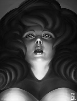 Black and White - Rose Quartz by raynnerGIL